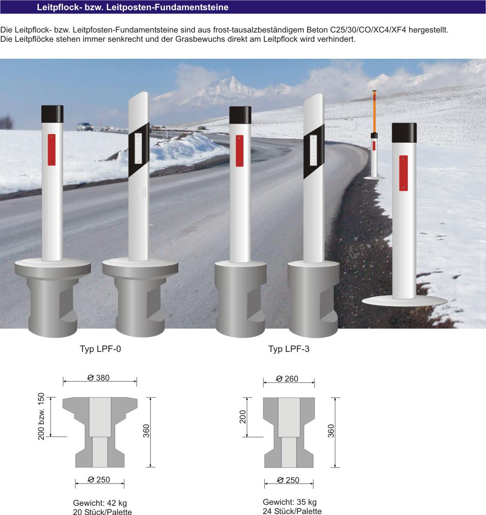 leitpflöcke mit integrierten schneestangen - leitpfosten mit